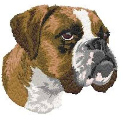 FREE Dog's Name on Full-Color BOXER Embroidered Luxury Spa Hand Towel - Gift