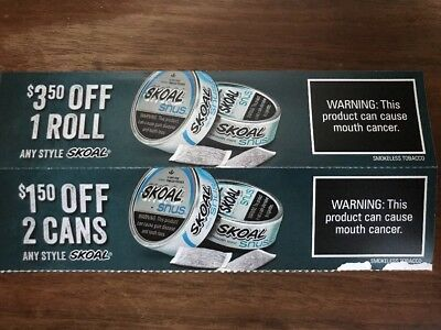 Skoal Coupons-Expires On 3/31/2018- Great Coupons !!