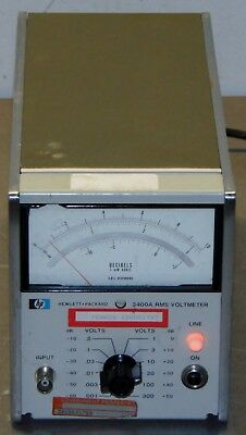HP 3400A RMS Voltmeter with Option C61