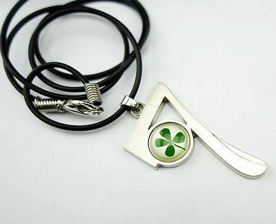 cool sale vogue design real green four leaf clover stone style pendants m3