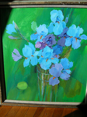 Listed JAPANESE Artist MIKA YOSHIZAWA Still Life EARLY Oil PAINTING 1970s Signed