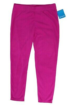 Columbia Big Girls Size XL 18-20 Glacial Leggings Groovy Pink Bright Fleece Pant