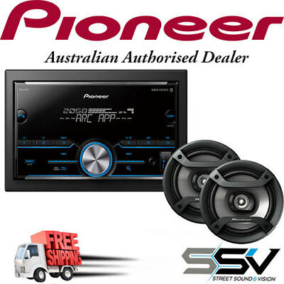 Pioneer MVH-S405BT Mechless with Dual Bluetooth, Spotify with Pioneer Speakers T