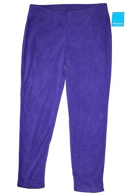 Columbia Big Girls Size XL 18-20 Glacial Leggings Hyper Purple Fleece Pant