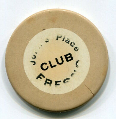John's Place Fresno, Calif. Casino / Card Room Chip - RARE