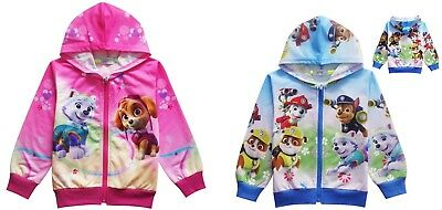 2018 Spring Girls Paw Patrol Pocket Zip-Up Hoodie Boys Jacket Sweatshirt K56