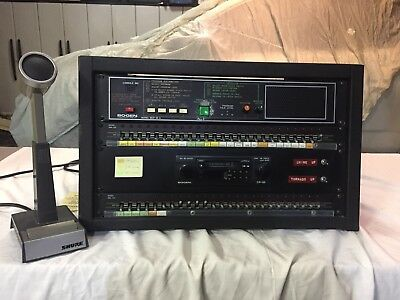 Bogen Master Control Panel Mcp- 35A Intercom Console And Microphone & Extras