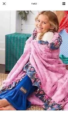 New MATILDA JANE Wrap Me Up Blanket Throw NWT In Bag Large Pink Floral