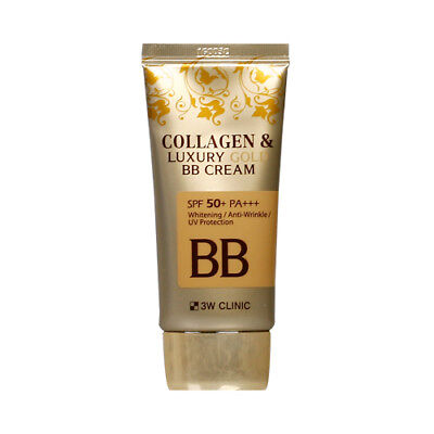 [3W CLINIC] Collagen & Luxury Gold BB Cream - 50ml (SPF50+ PA+++) / Free Gift