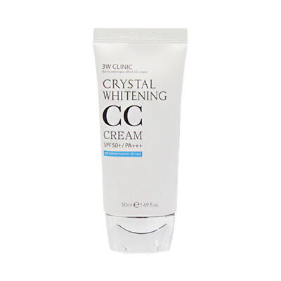 [3W CLINIC] Crystal Whitening CC Cream - 50ml (SPF50+ PA+++) / Free Gift