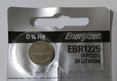 Genuine Energizer BR1225 CR1225 3v Lithium Battery Coin Cell 48mAh Exp 2022