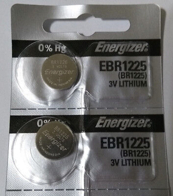 2x Genuine Energizer BR1225 CR1225 3v Lithium Battery Coin Cell 48mAh Exp 2027