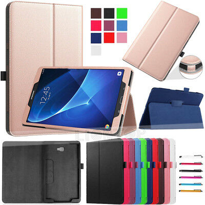 """For Samsung Galaxy Tab E 9.6""""/Tab A 10.1"""" T580 T560 Smart PU Leather Cover Case"""