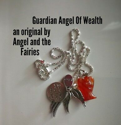 00755 Guardian Angel of Wealth Infused Necklace Agate Certified Practitioner