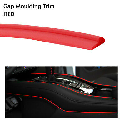 Red Car Auto Interior Decorative Gap Trim Garnish Edging Line Strip Universal 8M