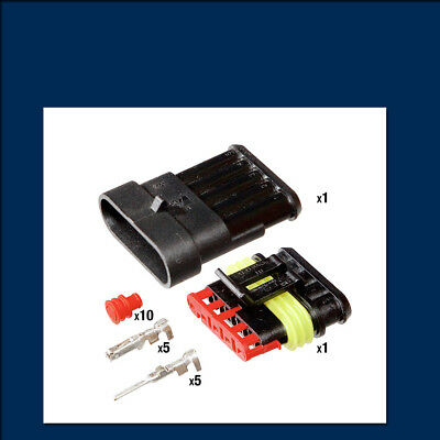 AMP Superseal Connector Kit - 5 Way