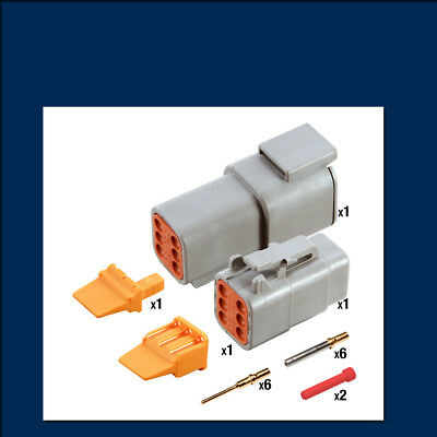 Genuine Deutsch DTM 6 way Connector Kit