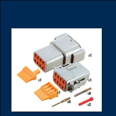 Genuine Deutsch DTM 8 way Connector Kit