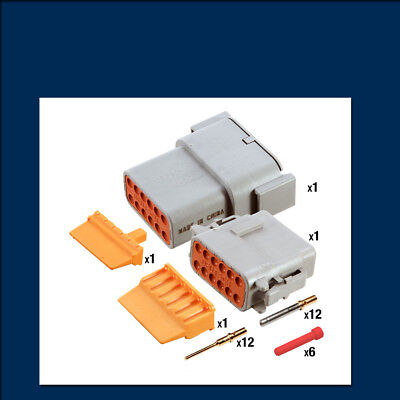 Genuine Deutsch DTM 12 way Connector Kit