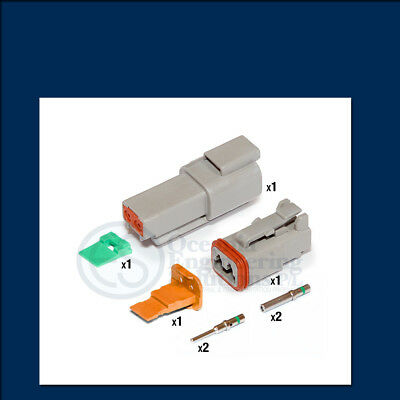 Genuine Deutsch DT 2 way Connector Kit