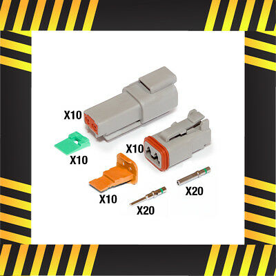 Genuine Deutsch DT 2 Way Connector Kit [Pack Size: 10]