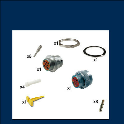 HD30 Series 18 Shell - 8 Way - Genuine Deutsch Connector Kit