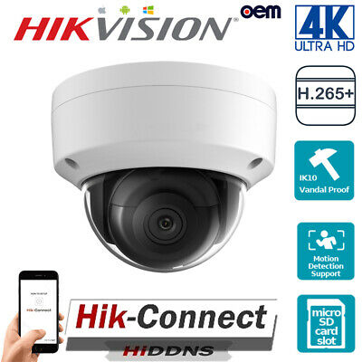 4K Hikvision Oem Ds-2Cd2185Fwd-I Uhd 8Mp Home Security Cctv Poe Ip Dome Cameras