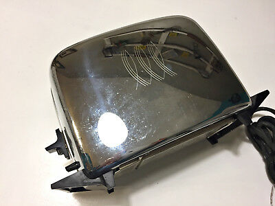 Vintage Chrome Toastmaster 1B24 Two Slice Art Deco Toaster 1950s Tested Works