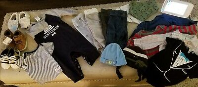 Great Lot of Baby Boy Clothes Rompers Pants Long sleeve Shoes Size 3-6 months !