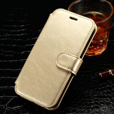 Luxury Genuine Magnetic Flip Leather Wallet Case Cover For iPhone 6s 6 5 5C SE 4