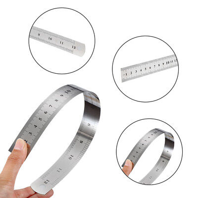 "12"" 300mm STAINLESS STEEL RULER RULE-DUAL MARKINGS - CONVERSION TABLE ON REAR W"