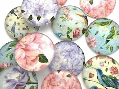 Large Mixed Vintage Garden Handmade Round Tiles (6 Pack) - Mosaic Tiles Supplies