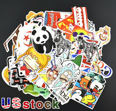 NEW Random Skateboard Stickers bomb Vinyl Laptop Luggage Decals Dope Sticker Lot
