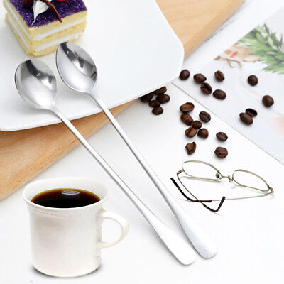Stainless Steel Office Home Restaurant Environmentally Coffee Stirring Spoon X1