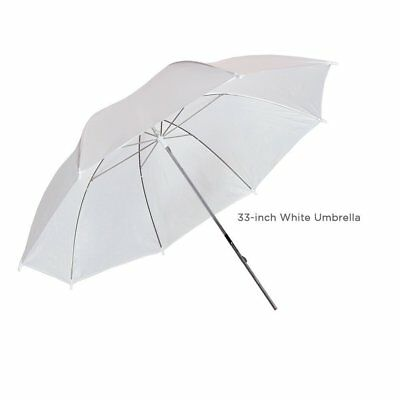 """33"""" White Reflector Photography Studio Umbrella for Continuous Lighting Kit"""