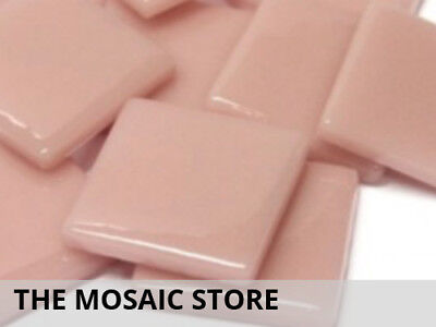 Rose Petal Gloss Glass Tiles 2.5cm | Mosaic Tiles Supplies Art Craft
