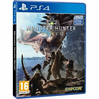 Monster Hunter World Ps4 Videojuego Físico Playstation 4 Capcom