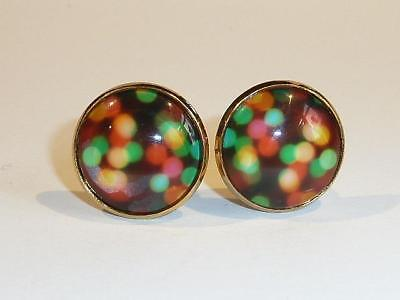 Gold Plated Cufflinks - Abstract Design - Gift Bag - Free Uk P&p......w2069