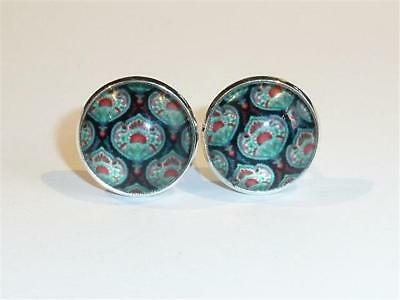 Silver Plated Cufflinks - Classical Design - Gift Bag - Free Uk P&p.......w2063