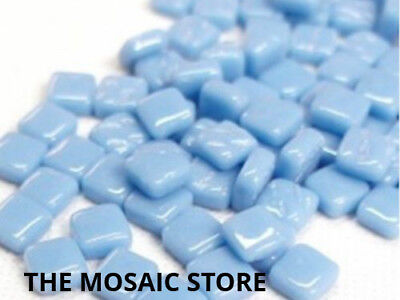 Turquoise Blue 8mm Glass Tiles - Mosaic Art & Craft Supplies