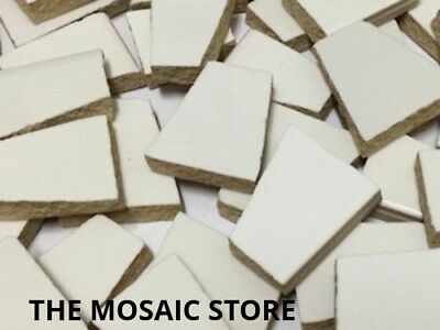 White Irregular Ceramic Tiles for Mosaic Art & Craft Tiles & Supplies
