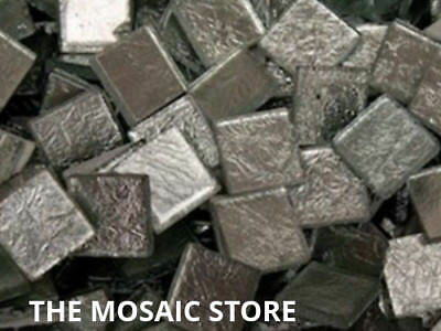 Silver Silverfoil Glass Tiles 2 cm - Mosaic Art & Craft Supplies