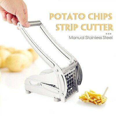 Potato Strip-Cutter Stainless Steel Hand-Operated Chips French Fry
