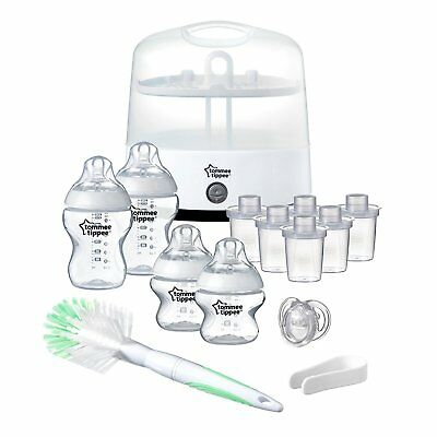 Tommee Tippee Electric Steriliser Starter Set Closer to Nature Bottles Feeding
