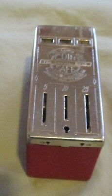#1234 - RE-CORD-O Coin Safe. Fidelity Investment. Wheeling WV. With Key