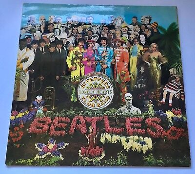 The Beatles Sgt Peppers Lonely Hearts Club Lp  Pcs 7027 Uk Reissue Ex/Ex