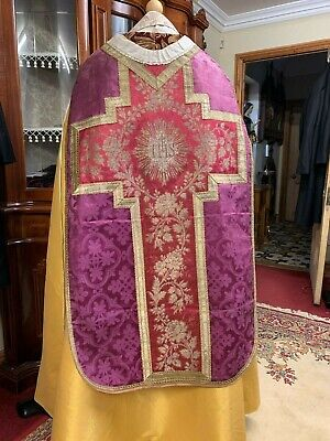 Stunning Antique Purple Chasuble - Beautiful Embroidery