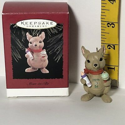 Hallmark Keepsake Ornament ~ 1996 MOM TO BE ~ Kangaroo Bottle Rattle ~