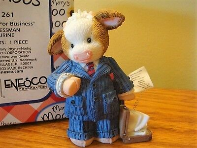 "Mary's Moo Moos ""suit-A-Bull For Business"" Businessman With Briefcase  - New"