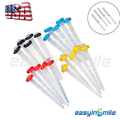 20Pcs Dental Endo Quartz Fiber Post Resin Glass Screw Pile& 4 Drills EASYISNMILE